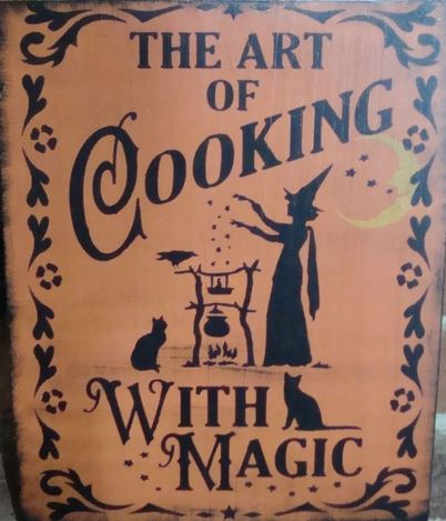 cooking with magic sign